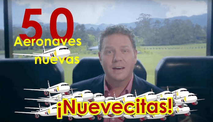 CEO von VivaColombia William Shaw kündigt 50 neue Flugzeuge an. (Foto/ Screenshot, Youtube)