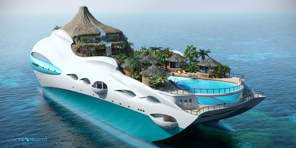 Die Yacht erreicht eine Spitzengeschwindigkeit von 15 Knoten (28 Kilometer pro Stunde).