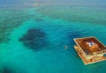 Paradiesisch: Das Unterwasserzimmer bietet einen weiten Blick auf den Indischen Ozean.