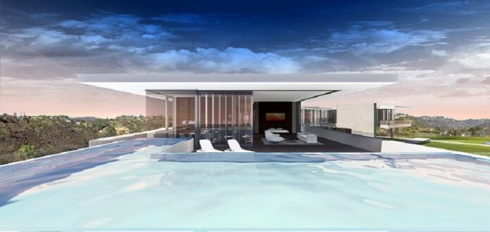 Vier Infinity-Pools und eine Aussicht über den Pazifik, Beverly Hills und L.A. (Foto: McClean Design)