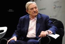 """Der gerissene Spekulant George Soros hat mit 100 Millionen Euro auf einen Kurseinbruch der Deutschen Bank gewettet und gewonnen. (Bild """"The man who broke the Bank of England"""" von """"""""Niccolo Caranti via flickr.com. Lizenz: Creative Commons 2.0)"""
