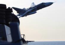 Russische Kampfjets über US-Kriegsschiff
