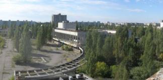 Blick auf den Kulturpalast Energetik der vor 30 Jahren evakuierten Geisterstadt Prypjat in der Sperrzone des explodierten Atomreaktors von Tschernobly in der Ukraine (Foto: Wikimedia)