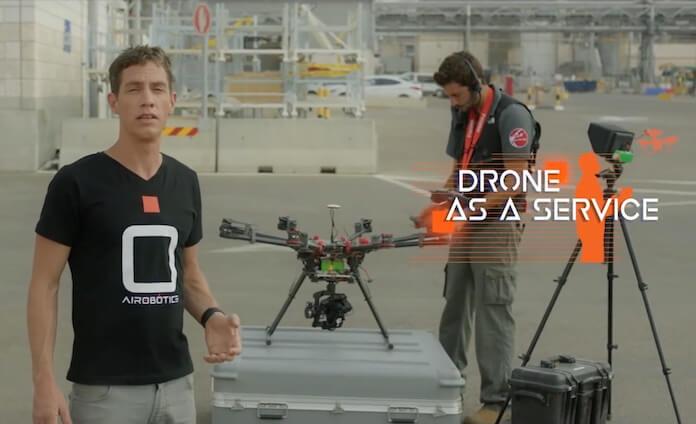 Ran Krauss, Chef von Airobotics, entwickelt zivile Drohnen für Kunden aus der Industrie. (Bild: Screenshot Youtube)