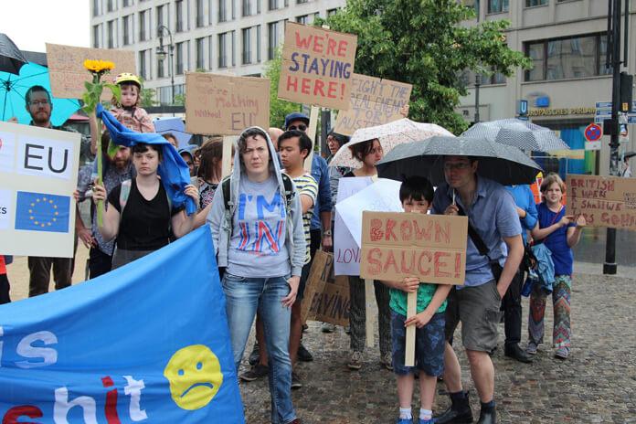 Anti Brexit Demo Berlin 2nd July 2016. Source.
