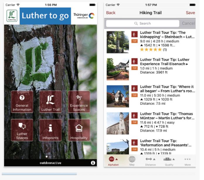 IPhone screenshot of the Luther App. (Screenshot: ITunes)