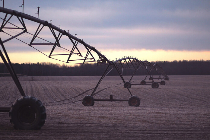 Intense irrigation is a a common practice in industrial agriculture.