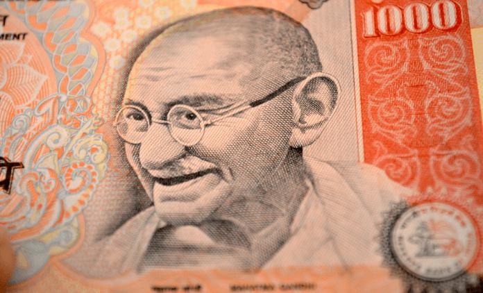Große Rupien-Banknoten ungültig