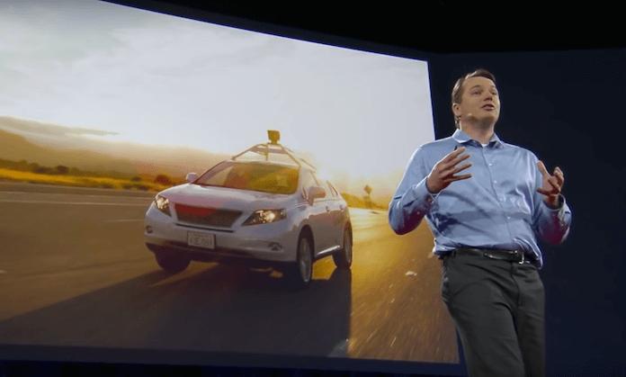 Hier: Chris Urmson, ehemaliger Leiter der selbstfahrende Autos von Google @TED Talk.