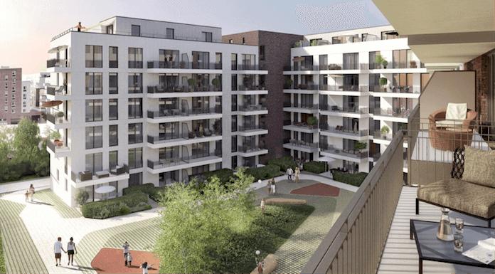 """Skizze des Projekts """"West Park Othmarschen"""" in Hamburg (Quelle: Magna Immobilien AG)"""
