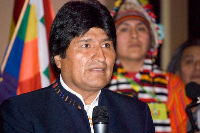 Bolivias Evo Morales erklärt Unabhängigkeit von Weltbank und dem IWF (Foto: Sebastian Baryli)