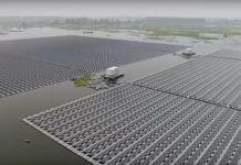 Die größte, schwimmende Solarfarm ersetzt Strom von Kohle (Foto: New China TV, Youtube)