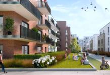 Skizze eines Hamburger Projekts der Magna Immobilien AG von Jörn Reinecke