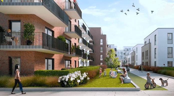 Skizze eines Projekts der Magna Immobilien AG von Jörn Reinecke in Ahrensburg